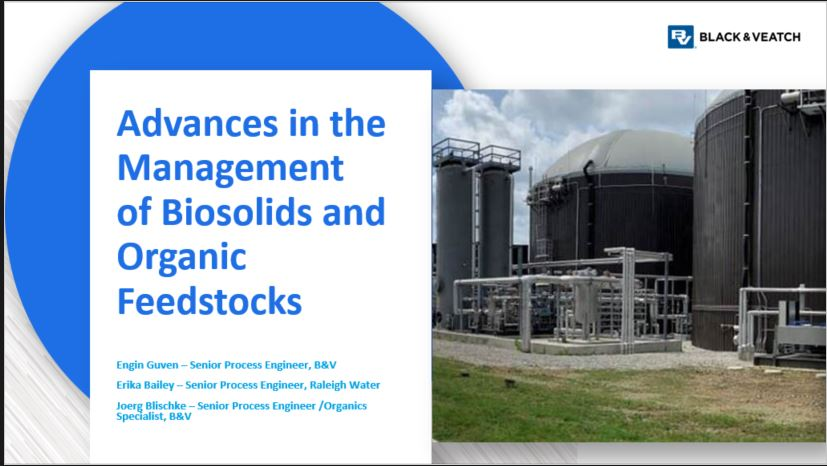 Advances in the Management of Biosolids and Organic Feedstocks