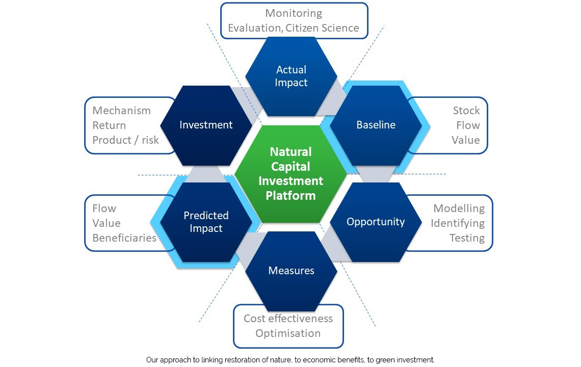 Our approach to linking restoration of nature, to economic benefits, to green investment