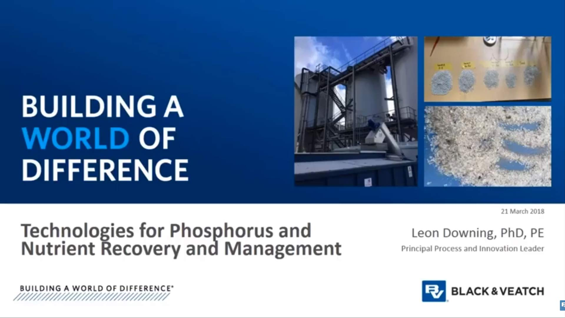 Technologies for Phosphorus and Nutrient Recovery and Management