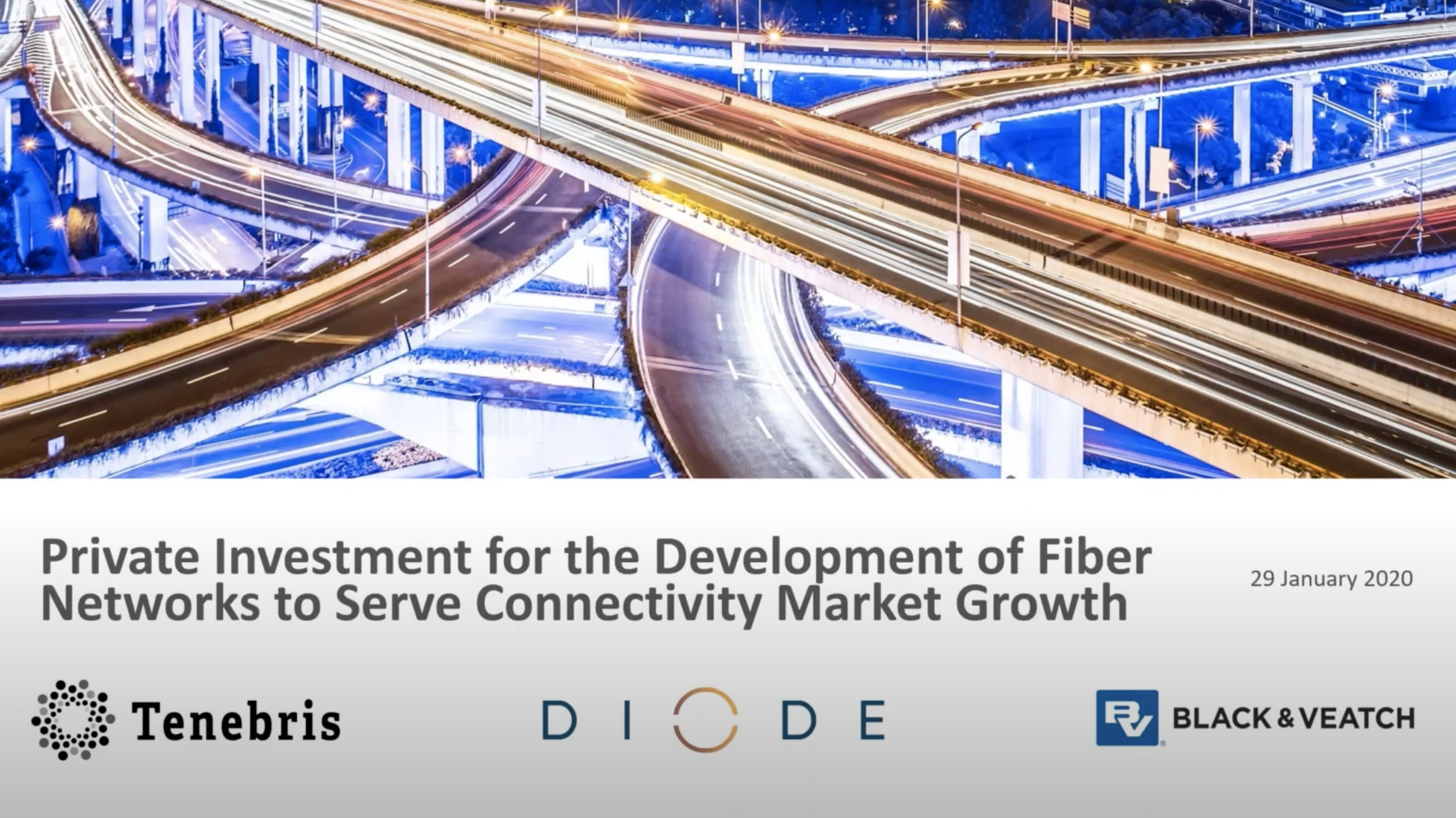 Private Investment for the Development of Fiber Networks to Serve Connectivity Market Growth