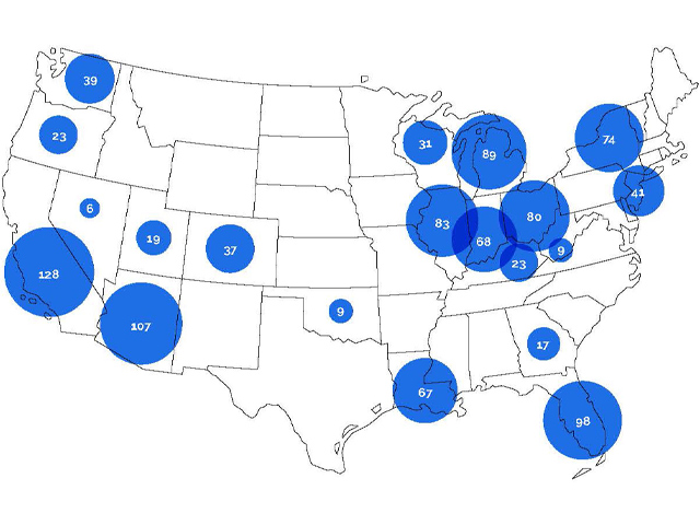 Indicative map of nationwide rooftop solar sites